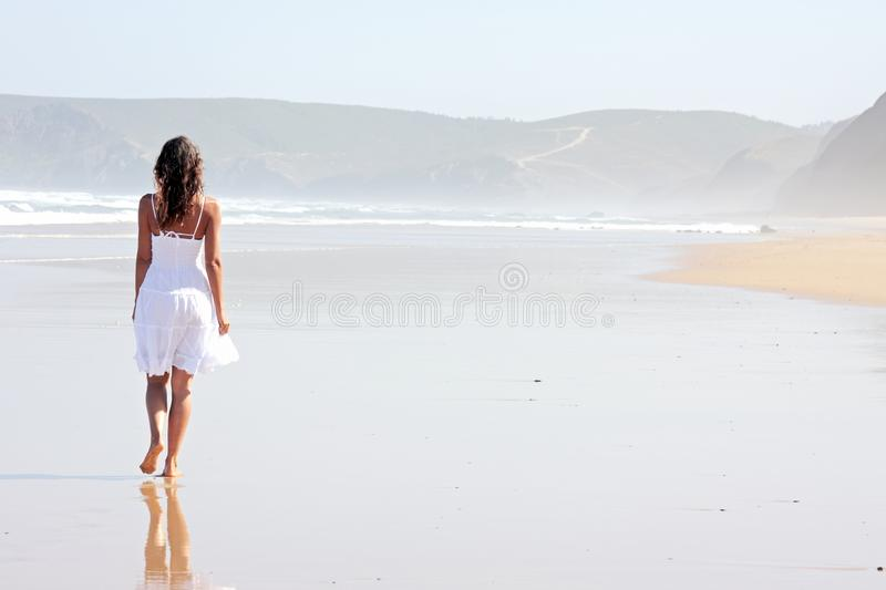 Download Lonely Young Woman At The Beach Stock Photo - Image: 15638504