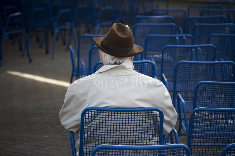 Lonesliness in oude dag stock fotografie