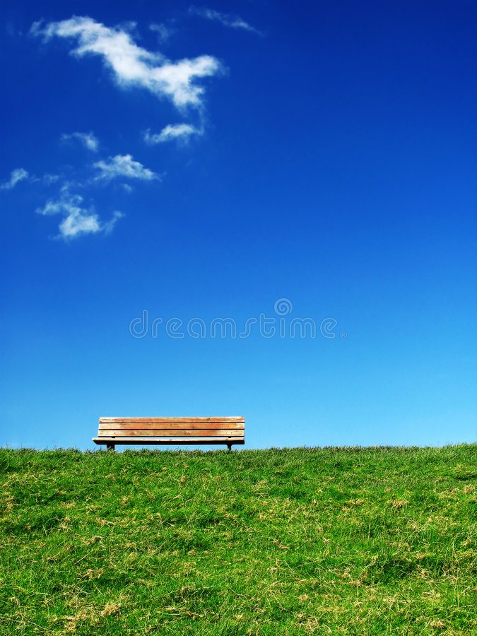 Lonesome bench 1 royalty free stock photos