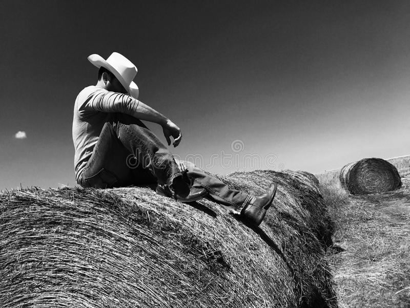 Lonesome Cowboy stock image