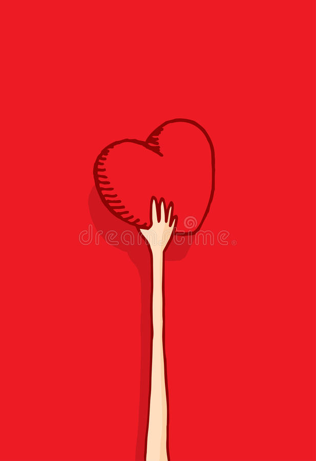 Download Long Arm Giving Away His Heart Stock Vector - Illustration of long, valentine: 39511491