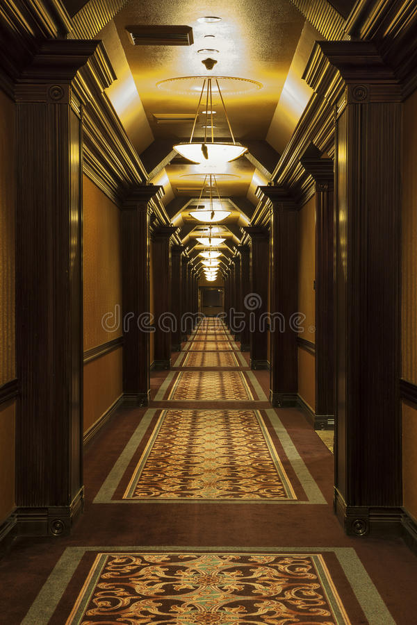 High Quality Download Long Art Deco Corridor Stock Photo. Image Of Revival   32910840