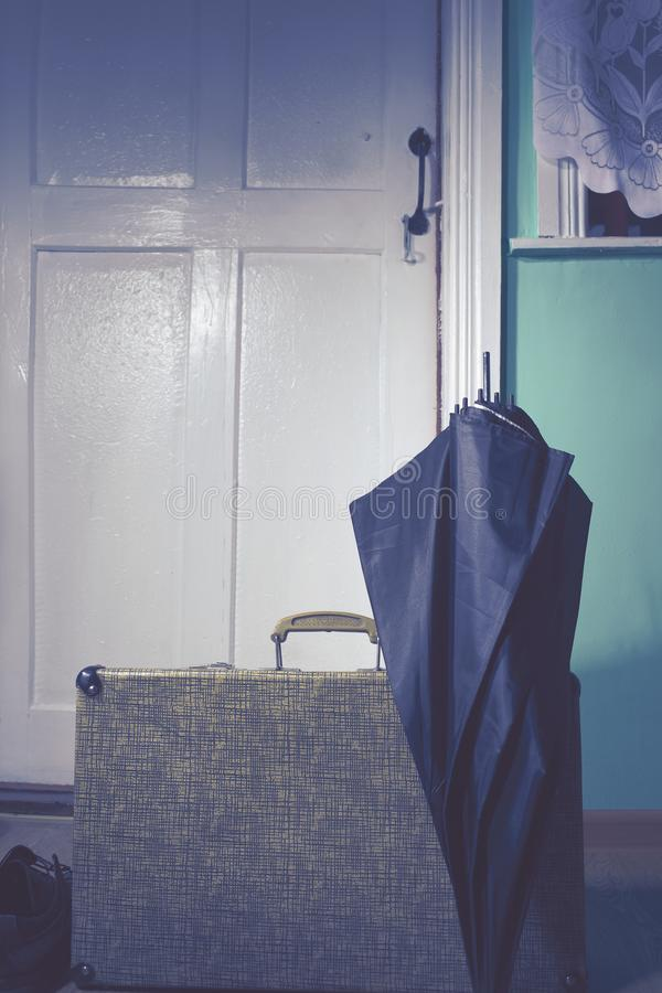 Long-awaited return home after a trip royalty free stock photo