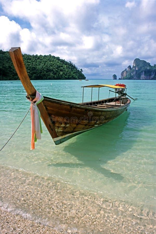 Long bateau - phi Don, Thaïlande de phi de Ko photo stock