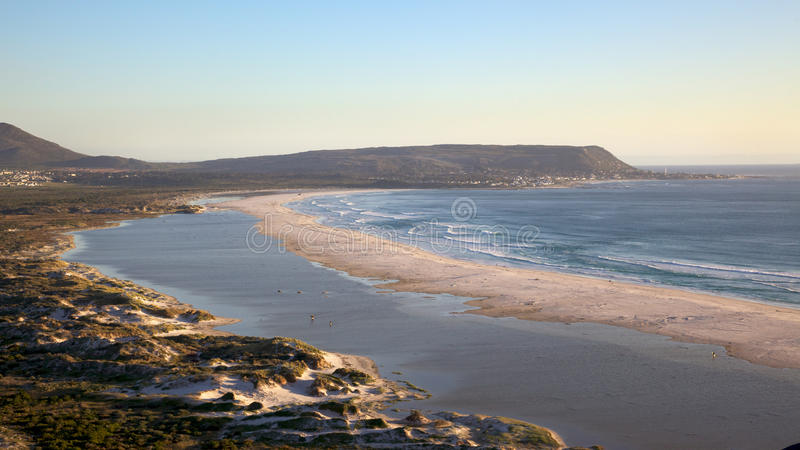 Long Beach. The expanse of Long Beach, with Kommetjie in the background, Cape Peninsula, South Africa royalty free stock images