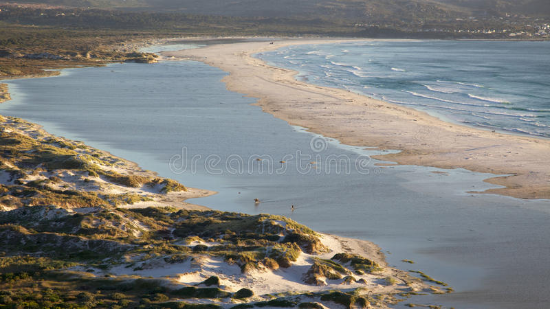 Long Beach. Part of Long Beach, with a section of Kommetjie in the background, Cape Peninsula, South Africa stock images