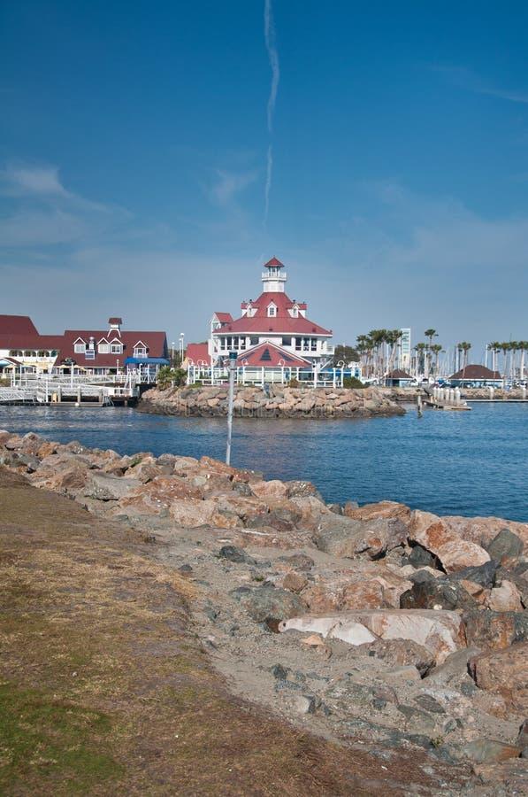 Long Beach. View of the downtown Long Beach California marina stock image