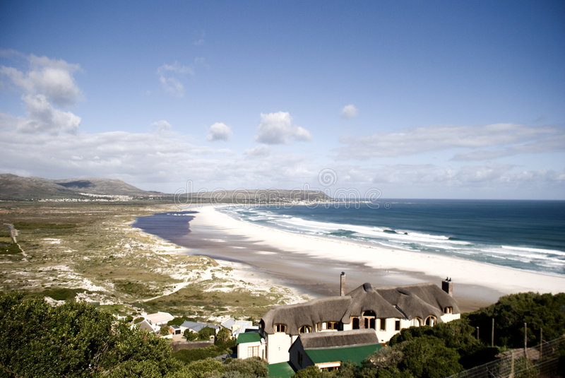 Long Beach 3. A view of Long Beach, Kommetjie in Cape Town South Africa taken from Chapmans Peak. MyRef: 5033 royalty free stock photography