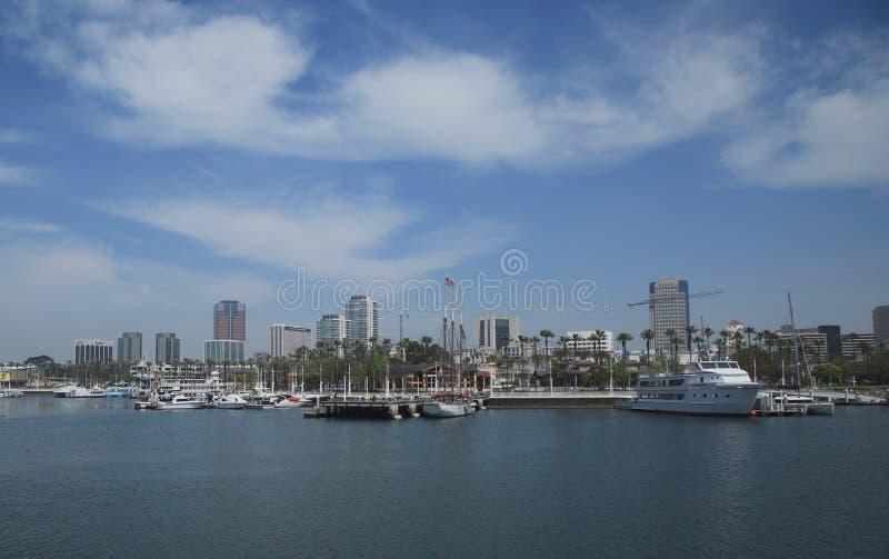 Long Beach. Beautiful Long Beach city scape along the Oceanside royalty free stock photos