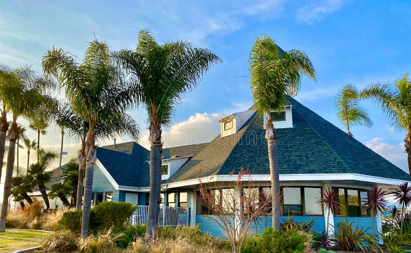 Long Beach Boat house Californië stock afbeeldingen