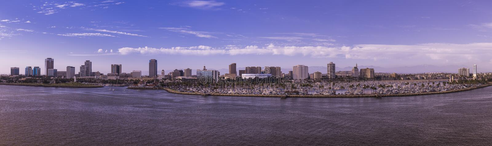 Long Beach CA. Downtown Long Beach waterfront in the afternoon stock photography