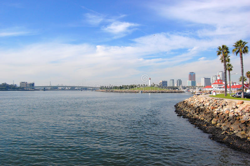 Long Beach, California. Long Beach waterfront skyline, California, USA royalty free stock image