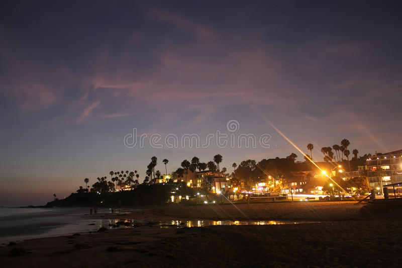Long Beach, California, USA. Long Beach, California, landscape, sunset at sea, sandy beach, nature of America royalty free stock image