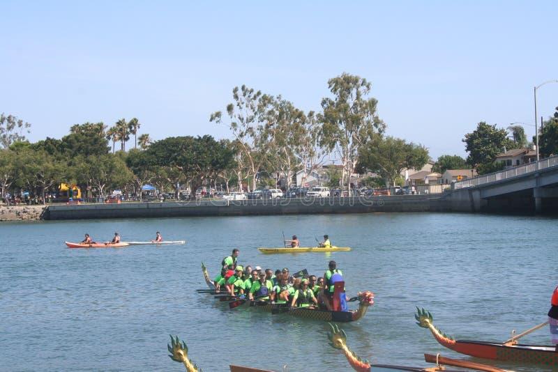 Long Beach Dragon Boat Festival stock photos