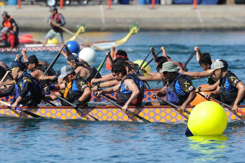 Long Beach 2019 Dragon Boat Festival, Califórnia, EUA foto de stock royalty free