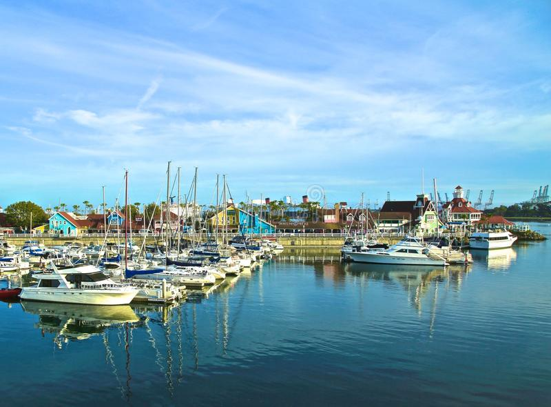 Long Beach Harbor stock images