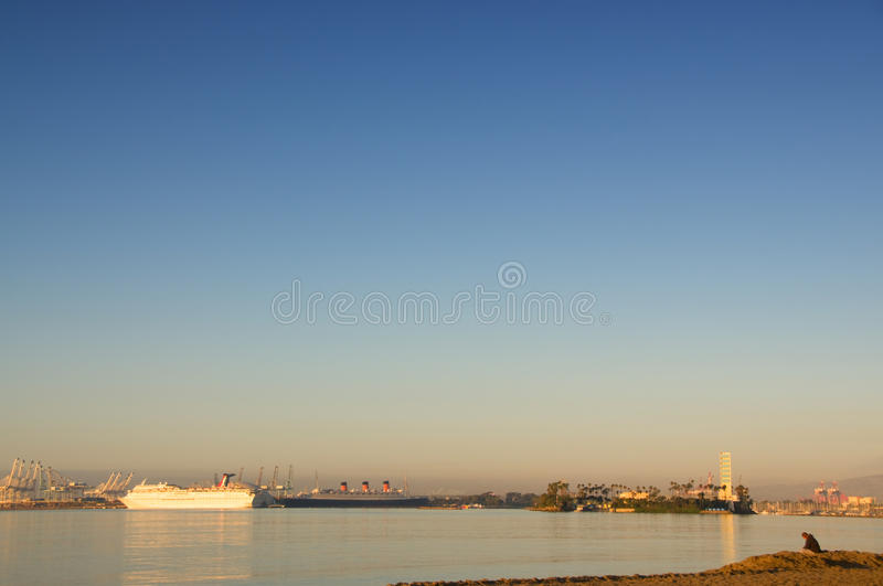 Long Beach Harbor stock photography