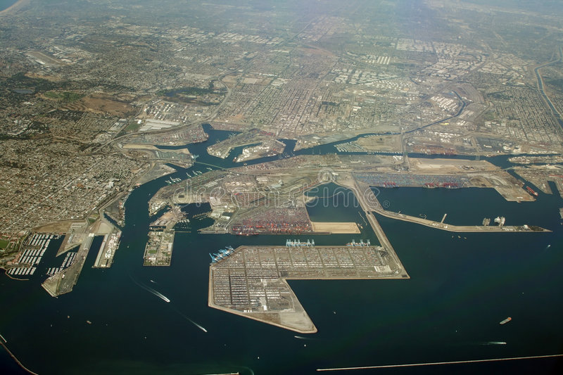 Long beach industrial coast. Los Angeles, California stock image