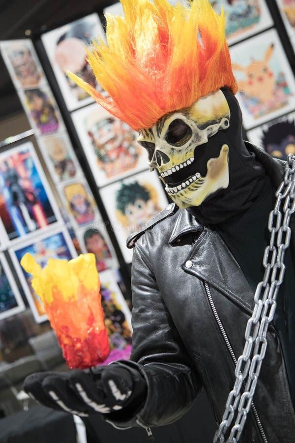 Long Beach komisk expo Ghost Rider 1 arkivfoton