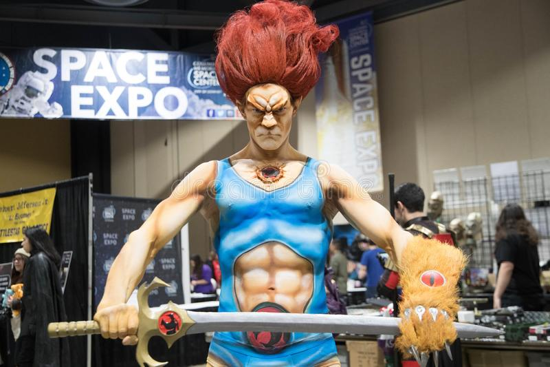 Long Beach komisk expo ThunderCat 3 royaltyfri bild