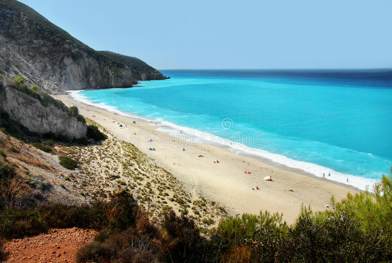 Long Beach , Lefkada, Greece royalty free stock images