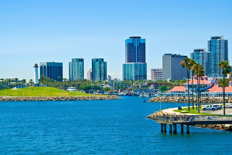 Long Beach, Los Angeles, California immagine stock libera da diritti