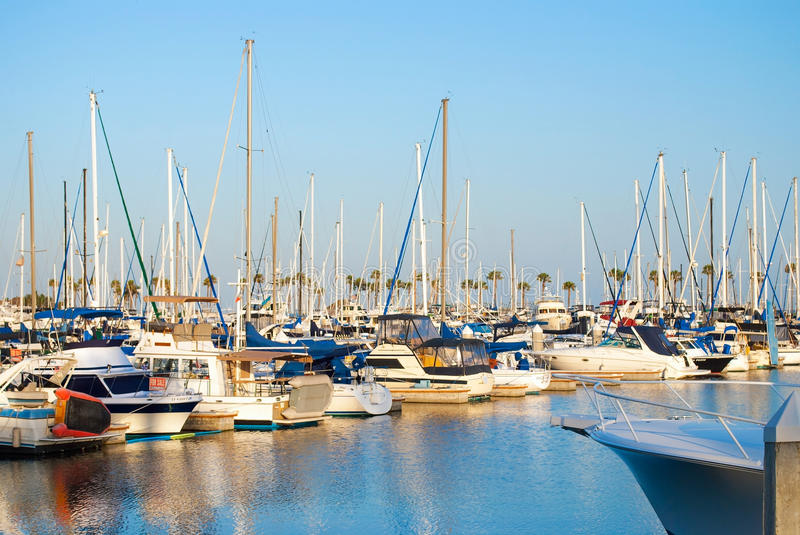 Long Beach Marina. LONG BEACH, CA - JUNE 24: A scenic view of Long Beach Marina on June 24 2009 in Long Beach California stock photography