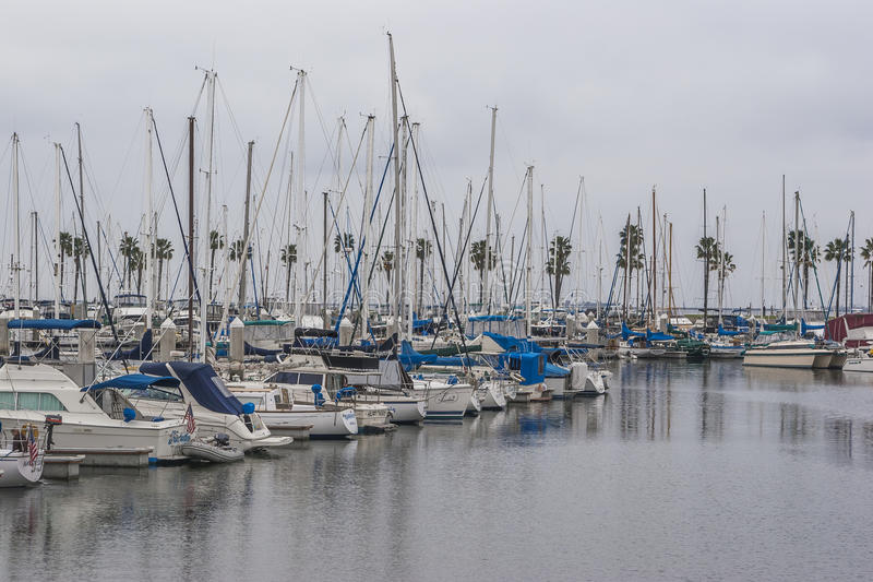 Long Beach Marina. Long Beach, CA, USA royalty free stock photo