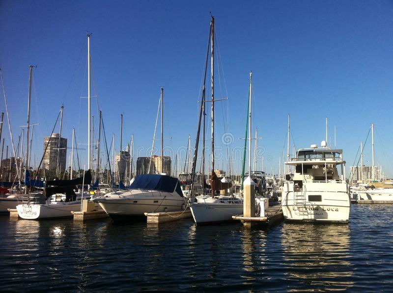 Long beach marina stock image