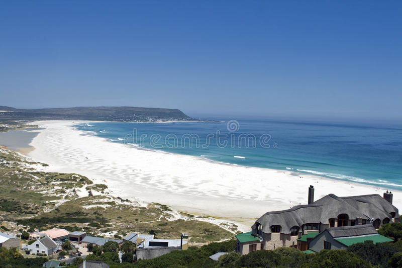 Long Beach near Cape Town, South Africa. Long Beach in Noordhoek near Cape Town, South Africa. Noordhoek can be accessed via the spectacular Chapman's Peak Drive stock photography