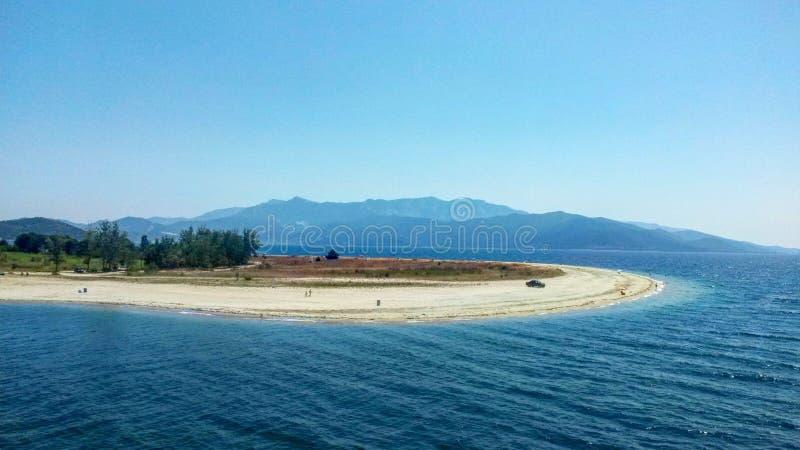 Long beach near Thassos island royalty free stock photo