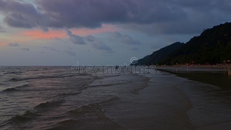 Long Beach på Koh Chang, Trat arkivfoto
