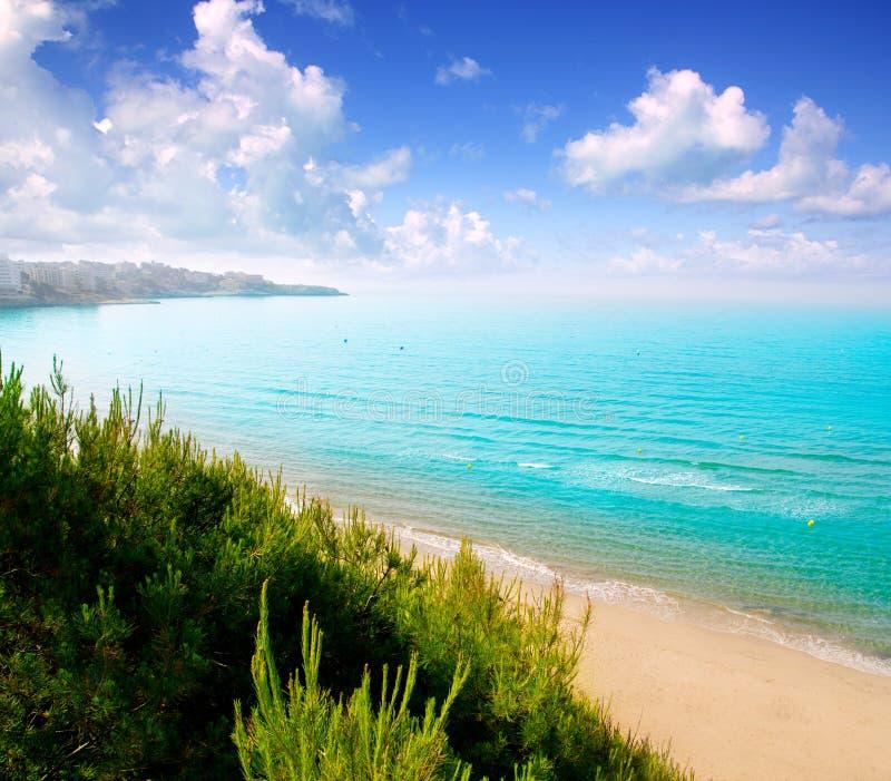 Long Stay Vacations In Spain: Long Beach Platja Larga In Salou Tarragona Stock Photo