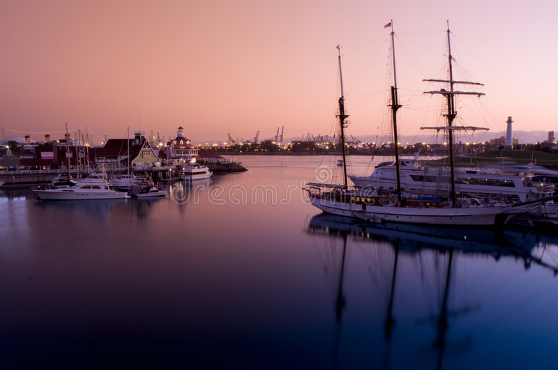Long Beach Rainbow Harbor royalty free stock photos