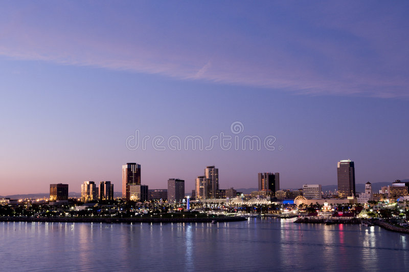 Long Beach Skyline royalty free stock photos