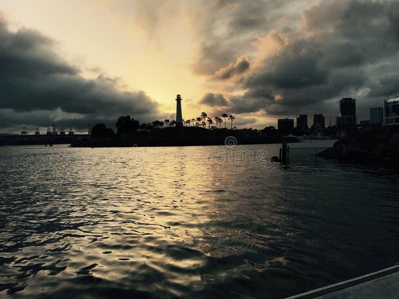 Long Beach Sonnenuntergang stockbilder