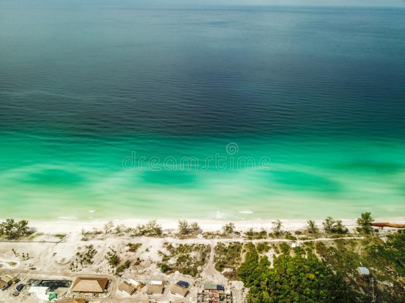 Long Beach sur Koh Rong, Cambodge images stock