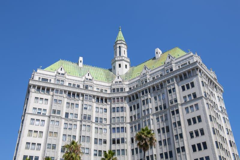 Long Beach Villa Riviera-byggnaden i centrala Kalifornien fotografering för bildbyråer