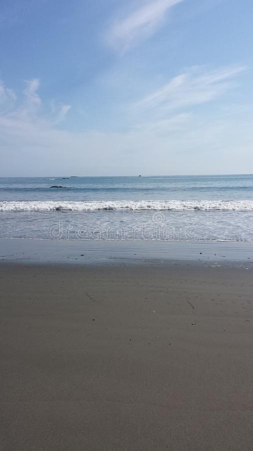Long Beach waves royalty free stock photo
