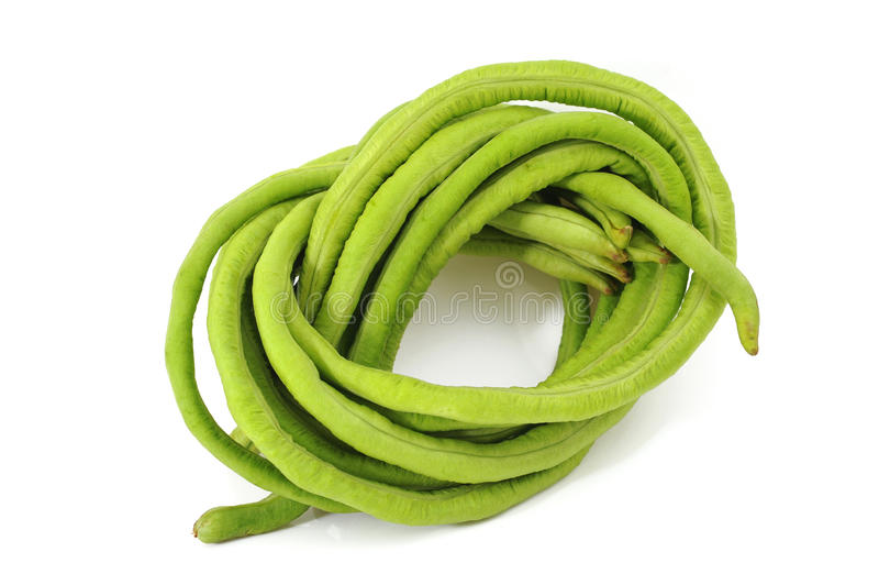 Long beans. Vegetable on white background stock image