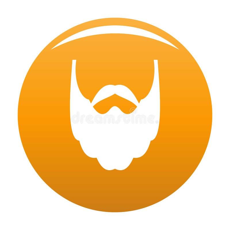 Long beard icon orange. Long beard icon. Simple illustration of long beard icon for any design orange vector illustration