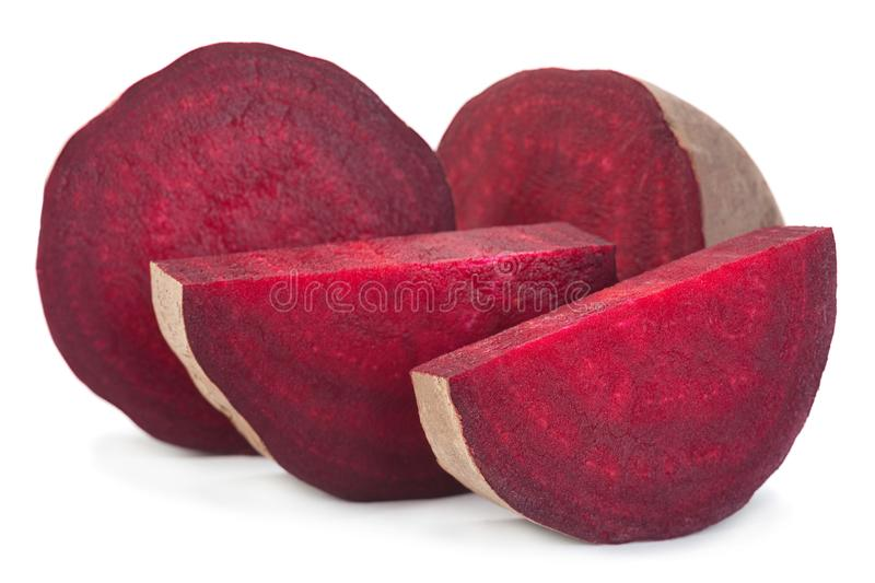 Long beet root vegetable on white. Long beet root vegetable closeup isolated on white stock images