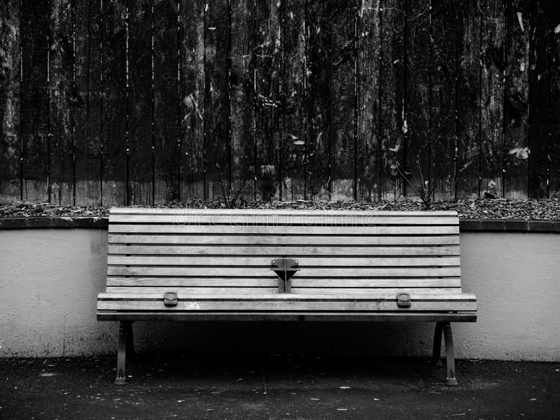 Long Bench stock photography