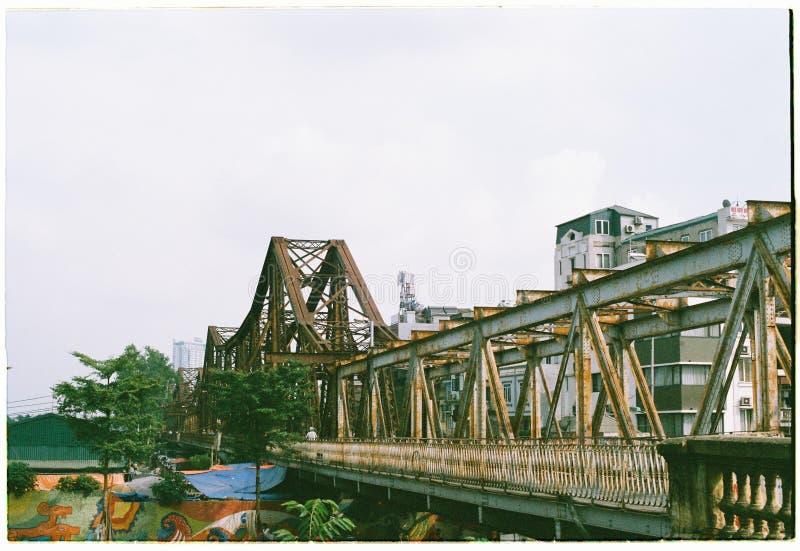 Long Bien bridge royalty free stock photography