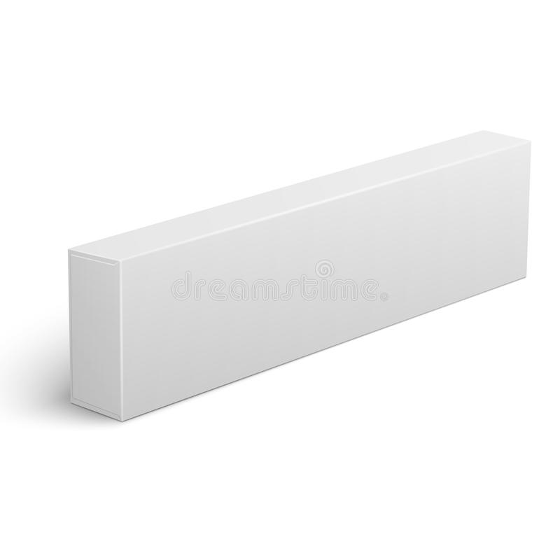 Long Blank Cardboard Box Template Stock Vector  Illustration Of