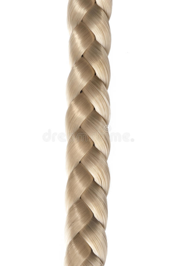 Long Blond Hair Braid Stock Images