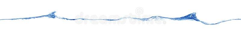 Long blue wave. Isolated on white stock photo