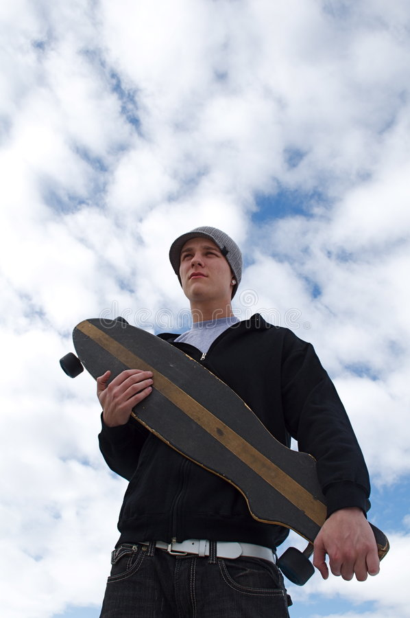 Long boarder stock image