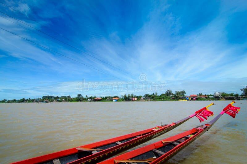 Long boat stock photo