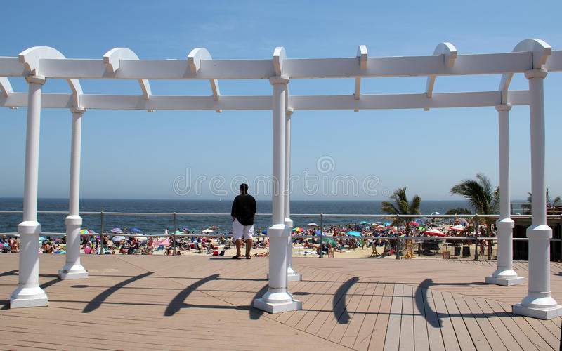 Long Branch promenade royalty free stock photo